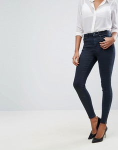 Темные джинсы с отделкой молниями ASOS SCULPT ME - Синий