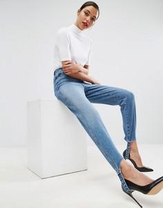 Джинсы в винтажном стиле с лямками ASOS AUTHENTIC - Синий