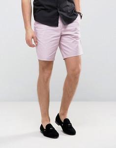 Строгие узкие шорты чиносы Burton Menswear - Розовый