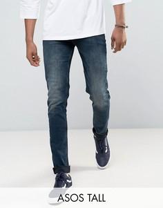 Синие джинсы скинни ASOS TALL - Синий