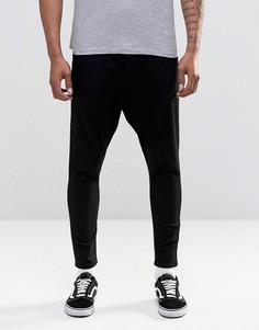 Черные джинсы заниженного кроя ASOS - Черный