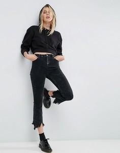 Черные укороченные расклешенные джинсы ASOS - Черный