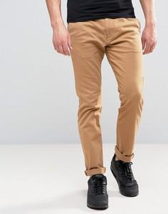 Бежевые облегающие брюки с 5 карманами Hollister - Бежевый