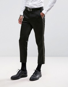 Укороченные брюки скинни с золотистой отделкой металлик ASOS - Золотой