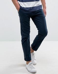 Синие зауженные брюки с 5 карманами Hollister - Синий