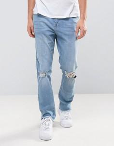 Узкие джинсы в стиле 90-х Brooklyn Supply Co - Синий