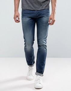 Выбеленные джинсы скинни Diesel Tepphar 0853R - Синий