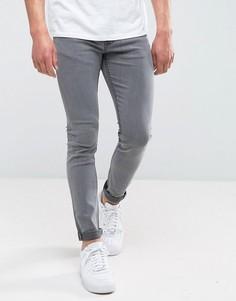 Серые джинсы скинни с выбеленным эффектом Only & Sons - Серый