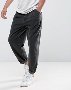 Выбеленные черные оверсайз-джинсы ASOS - Черный