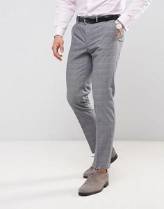 Зауженные брюки в клетку Burton Menswear - Серый