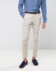 Льняные узкие брюки Jack & Jones Premium - Рыжий