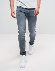 Выбеленные серые эластичные джинсы скинни Replay Jondrill - Серый