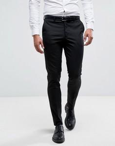 Черные зауженные брюки в строгом стиле New Look - Черный