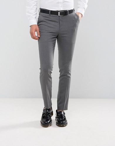 Серые строгие зауженные брюки New Look - Серый