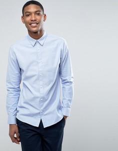Узкая эластичная оксфордская рубашка Selected Homme - Синий