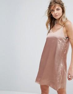 Атласное платье на бретельках Glamorous - Медный