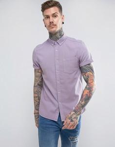 Сиреневая джинсовая рубашка классического кроя ASOS - Фиолетовый