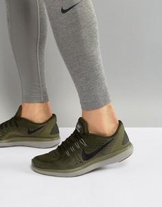 Кроссовки цвета хаки Nike Running Flex 2017 898457-300 - Зеленый