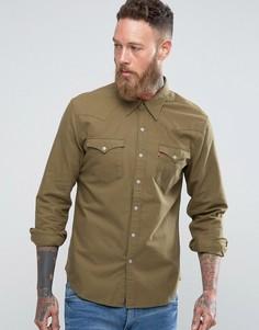 Рубашка в стиле вестерн Levis Barstow Olive Night - Зеленый Levis®