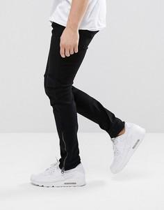 Темные джинсы слим с молниями внизу G-Star 5620 3D - Черный
