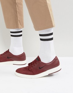 Бордовые кеды Nike SB Zoom P-Rod X 918304-601 - Красный