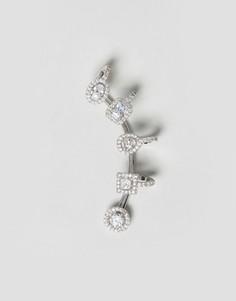 Кафф с кристаллами LoveRocks London - Серебряный