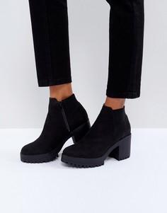 Ботинки челси на каблуке Truffle - Черный