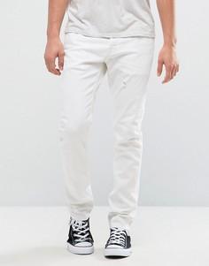 Белые джинсы скинни AllSaints - Белый