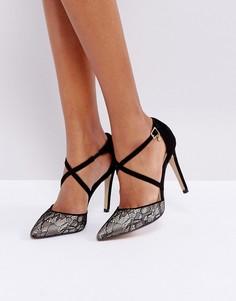 Туфли на каблуке с кружевом Dune Cordelia - Черный