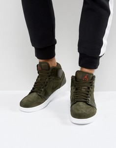 Зеленые кроссовки средней высоты Nike Air Jordan 1 554724-302 - Коричневый