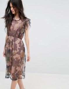 Платье с рукавами клеш Vila - Зеленый