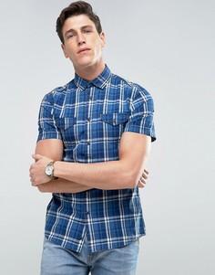 Клетчатая рубашка Celio - Синий