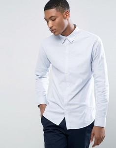 Приталенная эластичная оксфордская рубашка Selected Homme - Синий