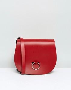 Сумка с застежкой-кольцом Leather Satchel Company - Красный