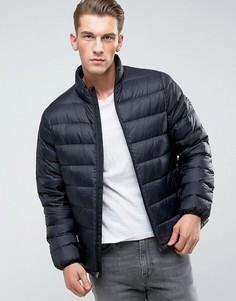 Черная стеганая куртка Abercrombie & Fitch - Черный