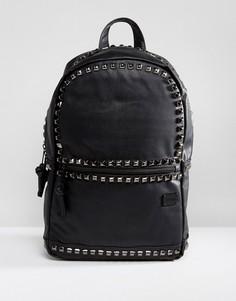 Рюкзак из искусственной кожи с заклепками Spiral - Черный