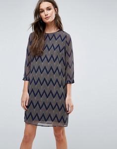 Цельнокройное платье с зигзагами Y.A.S Venya - Мульти