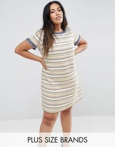 Фактурное цельнокройное платье Elvi - Мульти