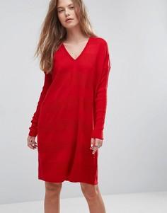 Вязаное oversize-платье ASOS - Красный