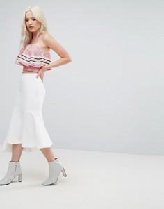 Асимметричная юбка N12H Bonita - Белый