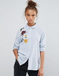 Рубашка с вышивкой B.Young - Синий