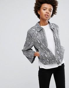 Куртка со змеиным принтом Minimum - Мульти