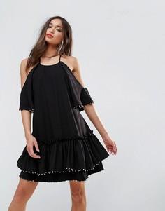 Платье мини Talulah Edwardian - Черный