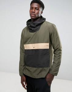 Складывающаяся куртка зеленого/черного/бежевого цвета Herschel Voyage - Зеленый