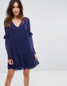 Свободное платье мини ASOS - Темно-синий