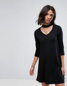 Свободное платье с чокером Only Abbie - Черный