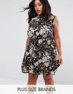 Платье-рубашка с принтом Praslin - Черный