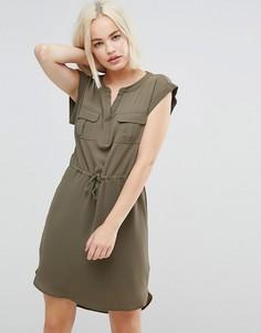 Платье с поясом Only Vertigo - Зеленый
