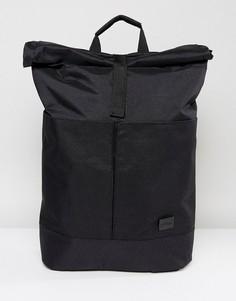 Черный рюкзак с подворачивающимся верхним клапаном Spiral - Черный