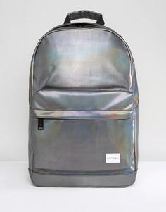 Черный рюкзак с маслянистым блеском Spiral - Черный